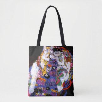 Oskulden vid Gustav Klimt konst Tygkasse