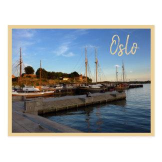 Oslo hamn med text vykort