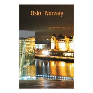 Oslo norge på natten brevpapper