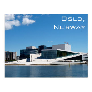 Oslo operahus i norge på en sommardag vykort