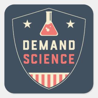 Oss folket begäranvetenskap i Amerika Fyrkantigt Klistermärke