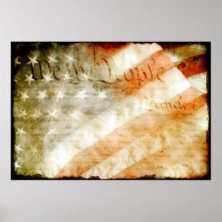 Oss folket med amerikanska flagganaffischen poster