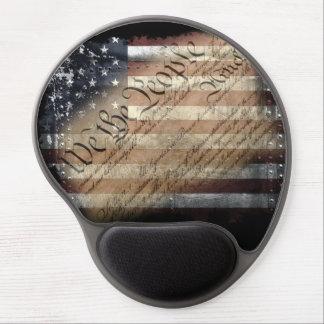 Oss folket vintageamerikanska flagganGel Mousepad Gelé Musmattor