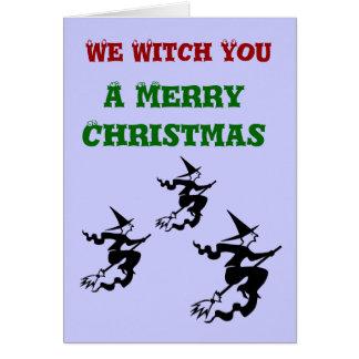 Oss häxa dig ett god julhälsningkort hälsningskort