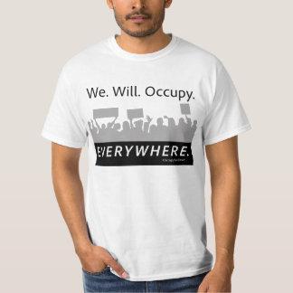 Oss. Ska. Uppta. Överallt. Occupy wall street Tee
