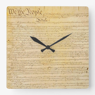 Oss som folket U.S.-konstitutionvägg tar tid på Fyrkantig Klocka