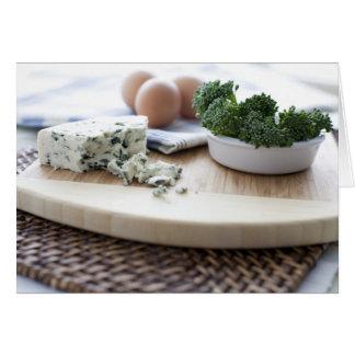Ost, ägg och broccoli hälsningskort