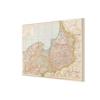Ost u Westpreussen, öster- och västerPrussia Canvastryck