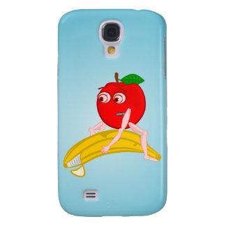 Osteopathfrukt roliga Apple som rätar ut en banan Galaxy S4 Fodral