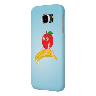 Osteopathfrukt roliga Apple som rätar ut en banan Galaxy S5 Fodral