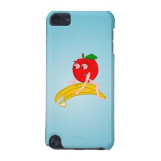 Osteopathfrukt roliga Apple som rätar ut en banan iPod Touch 5G Fodral
