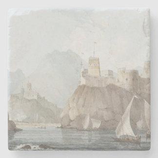 Öster beskådar av forten Jellali och Merani, Underlägg Sten