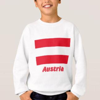 Österrike borgerlig flagga med namn t-shirt