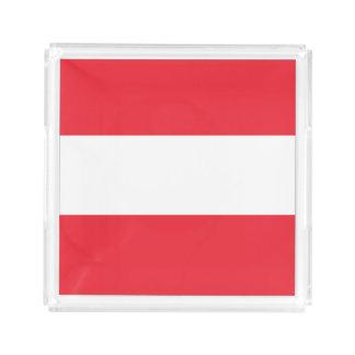 Österrike flagga bricka