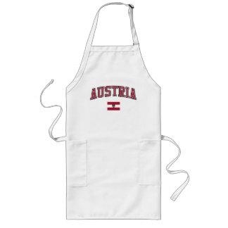Österrike + Flagga Långt Förkläde