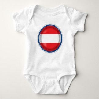 Österrike flagga, österrikarefärger, babytrasa t shirts