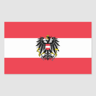 Österrike flagga rektangulärt klistermärke