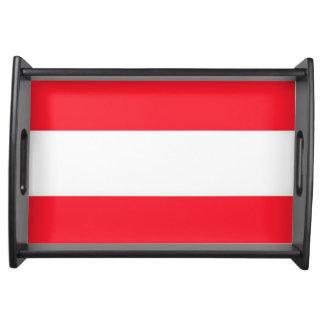 Österrike flagga serveringsbricka