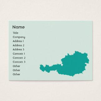 Österrike - knubbig visitkort