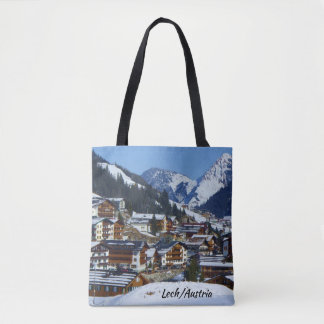 Österrike Lech förmiddagArlberg souvenir Tygkasse