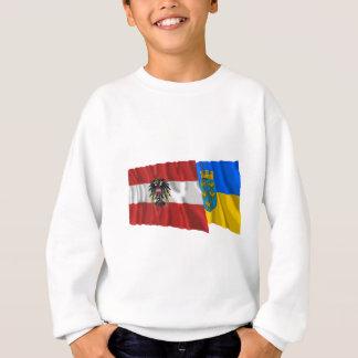 Österrike & Niederoesterreich som vinkar flaggor T Shirt