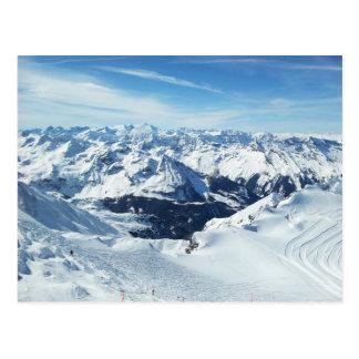 Österrike skidar berg reser alperna som snö vykort