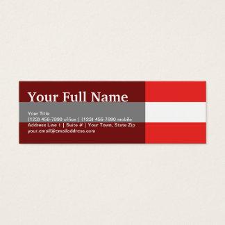 Österrike slättflagga litet visitkort