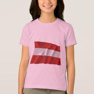 Österrike som vinkar borgerlig flagga tee shirt