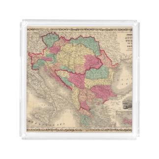 Österrike Turkiet i Europa och Grekland Bricka