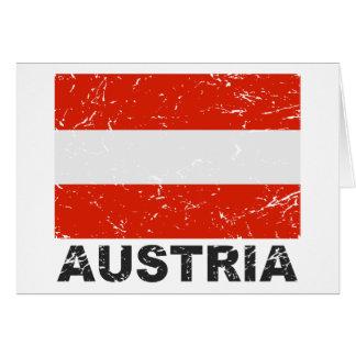 Österrike vintageflagga hälsningskort