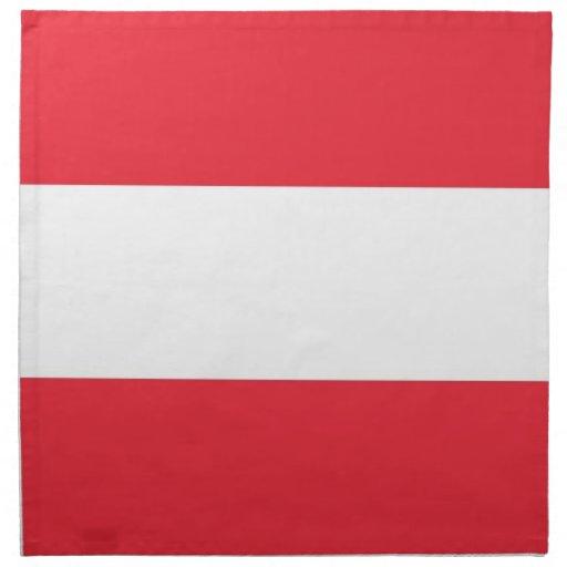Österrikisk flagga på den MoJo servetten Servett Med Tryck