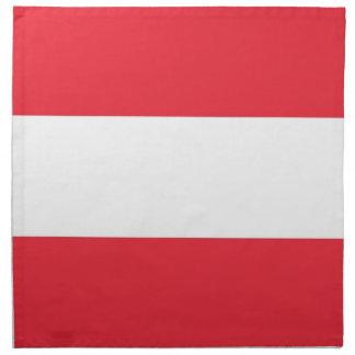 Österrikisk flagga på den MoJo servetten Tygservett