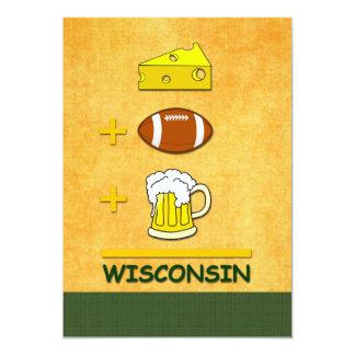 Ostfotbollöl Wisconsin 12,7 X 17,8 Cm Inbjudningskort