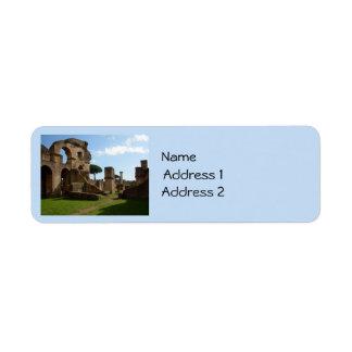 Ostia Antica (huset av Charioteers), Rome Returadress Etikett