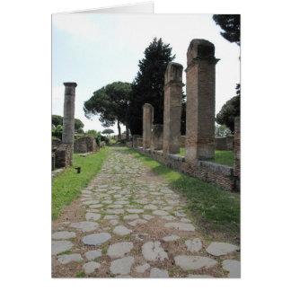 Ostia - hamnstad av forntida Rome Hälsningskort
