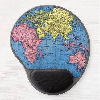 Östlig Gel Mousepad för kontinentvärldskarta Gelé Musmattor