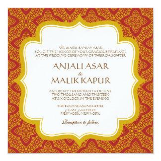Östlig gifta sig inbjudan för Tapestry |