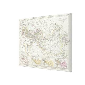 Östlig halvklotvärldskarta canvastryck