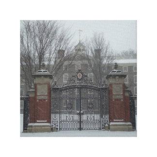 Östlig sida Providence, RI-vinterplats Canvastryck