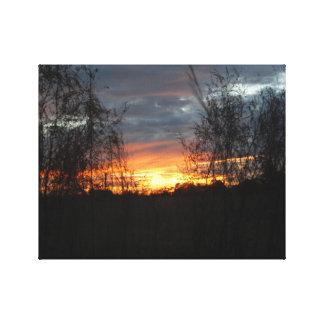 Östlig Texas solnedgång Canvastryck
