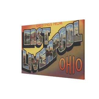 Östliga Liverpool, Ohio - stora brevplatser Canvastryck