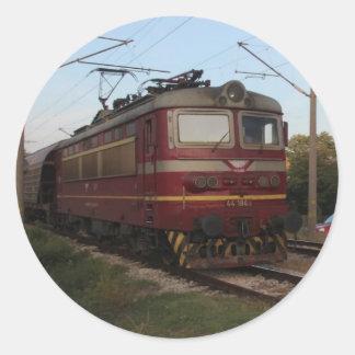 Östra - europégodståg runt klistermärke