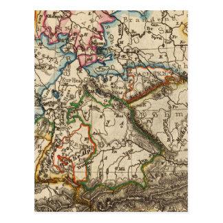 Östra - europékarta vykort