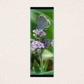 Östra Tailed blåttfjärilsbokmärke Litet Visitkort