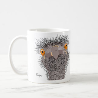 ostrich mig inte! kaffemugg