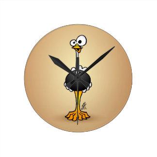 Ostrich Rund Klocka