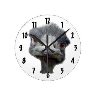 Ostrichansikte Rund Klocka