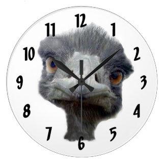 Ostrichansikte Stor Klocka