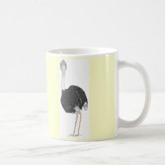 Ostrichen på en mugg, tillfogar namn kaffemugg