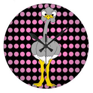 Ostrichrundan tar tid på stor klocka